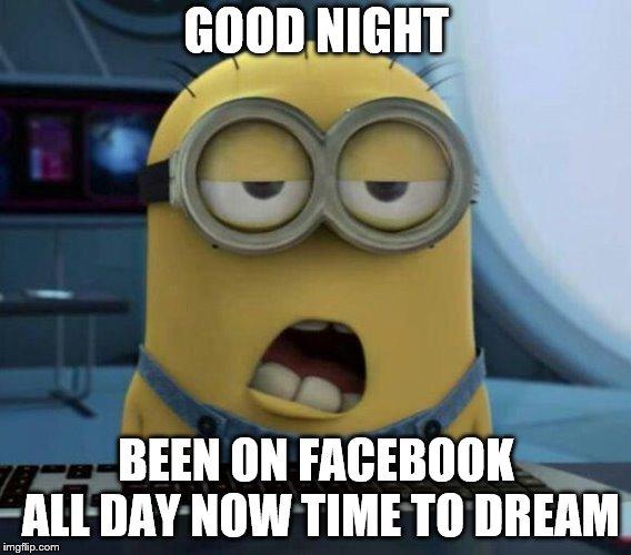 good night minion imgflip