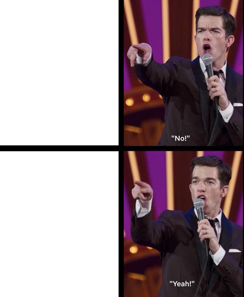 Yes No Meme Template : template, Mulaney, No/Yeah, Blank, Template, Imgflip