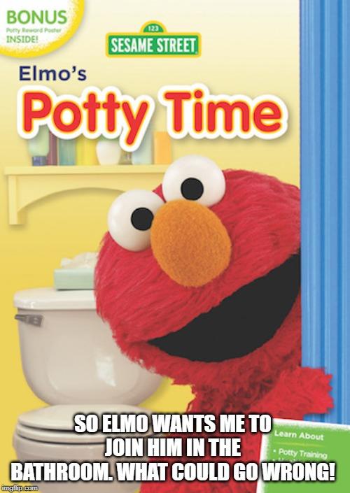 elmo on a toilet Memes - Imgflip