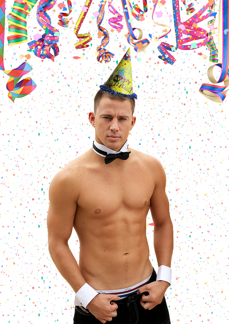 Happy Birthday Magic Mike : happy, birthday, magic, Channing, Tatum, Magic, Stripper, Large, Birthday, Poster, Blank, Template, Imgflip