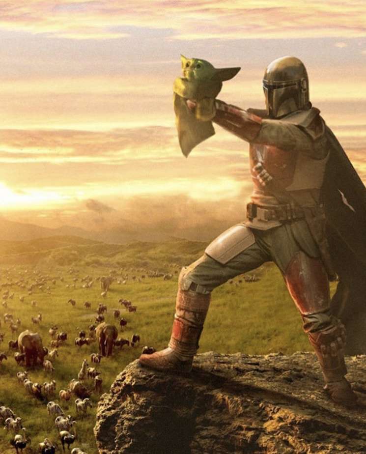 The Mandalorian and Baby Yoda Star Wars Lion King... | Threadfox