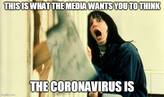 This is what the media wants you to think the coronavirus is - Imgflip