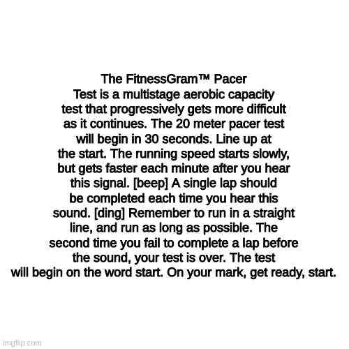 The FitnessGram™ Pacer Test is a multistage aerobic