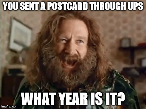 postcard through ups