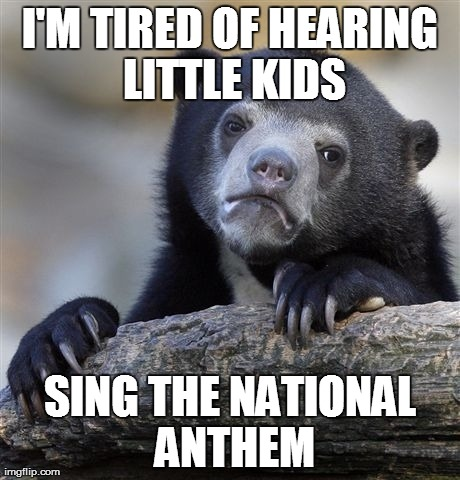 Enough with the NBA battle of the kid singers .  . ..