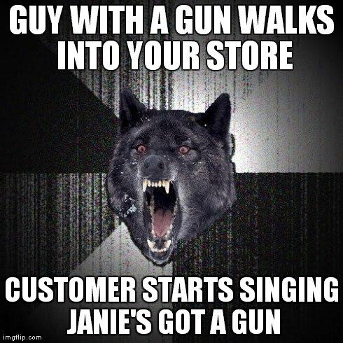 Customer wound up crapping his pants when guy hears his singing and turns to him