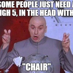 Dr Evil Chair Swings Outdoor Laser Meme Imgflip