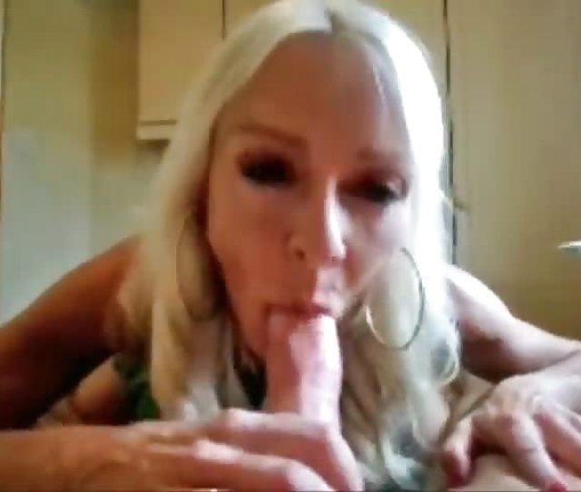 Blonde Granny Gives Amazing Blowjob