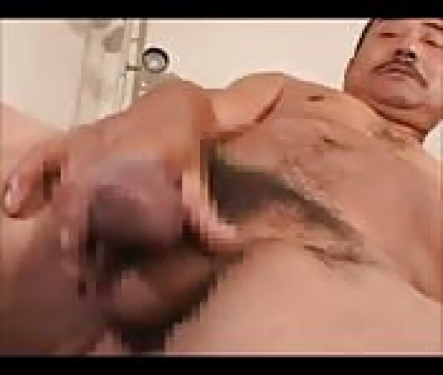 Kinky Asian Man Playing With His Big Dick