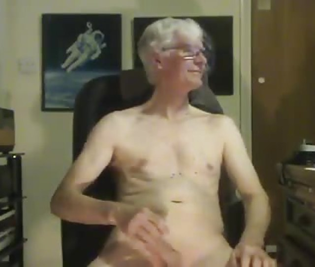 Old Man Playing With His Big Dick