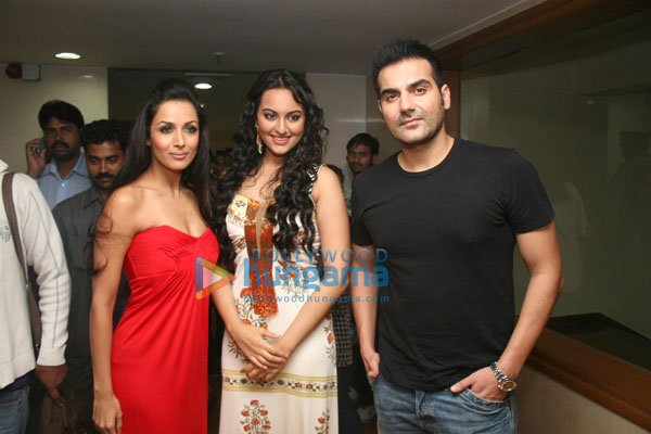 Malaika Arora, Sonakshi Sinha, Arbaaz Khan
