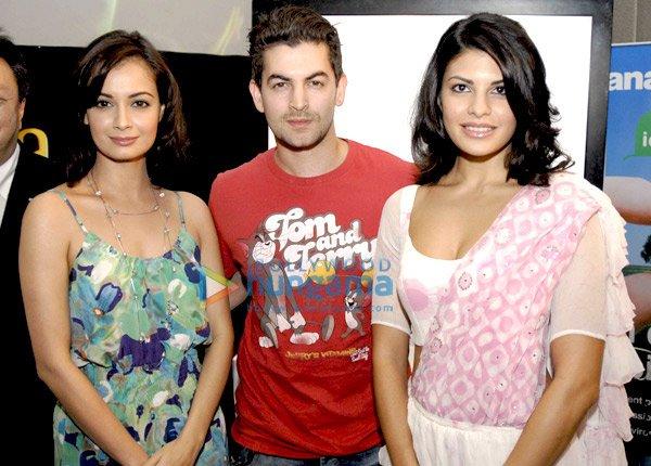 Dia Mirza, Neil Nitin Mukesh and Jacqueline Fernandez