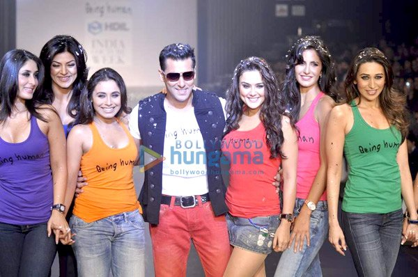 Salman's Being Human show at HDIL India Couture Week 2010
