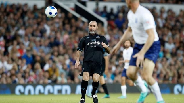 At the end of the match, the primary emotion was frustration at dropping two points to a poor palace side, with gareth southgate's grubby. Eric Cantona Plays In Soccer For Unexpected Old Trafford Performance