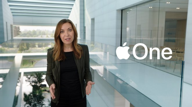 Lori Malm unveils Apple One during a special event at the company's headquarters of Apple Park in a still image from video released in Cupertino, California, U.S. September 15, 2020. Apple Inc/Handout via REUTERS. NO RESALES. NO ARCHIVES THIS IMAGE HAS BEEN SUPPLIED BY A THIRD PARTY.
