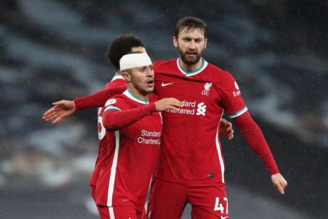 Liverpool team news Nat Phillips
