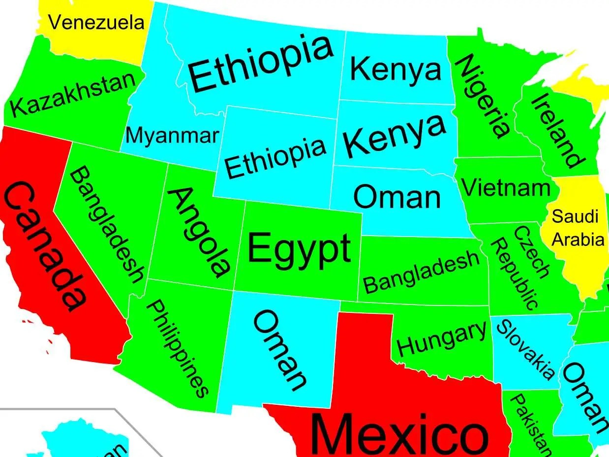 Los angeles also has a gdp over $1t, roughly the same size as malaysia. Map Of Of Us States Gdp And Other Countries