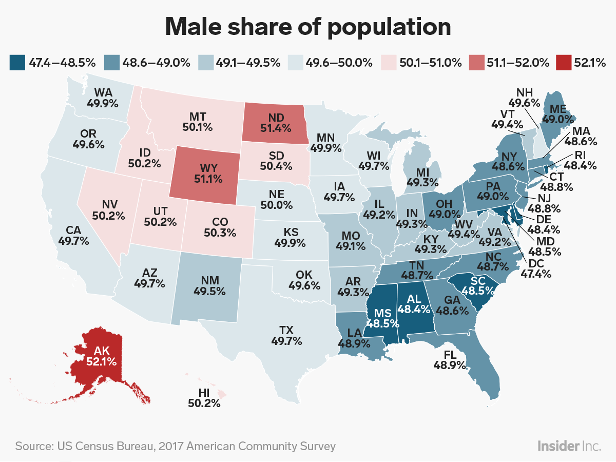A map of which states have legalized fireworks. How Many Men Vs Women In The Us Map Breaks It Down By State