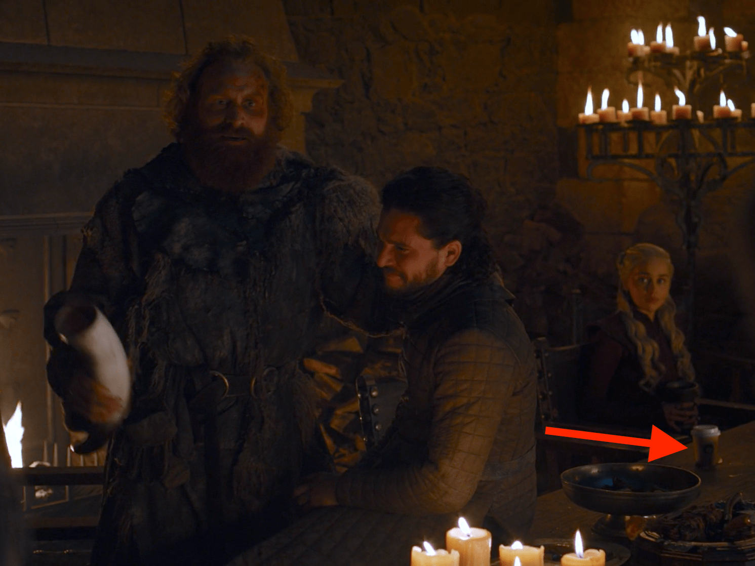 game of thrones fans spot coffee cup