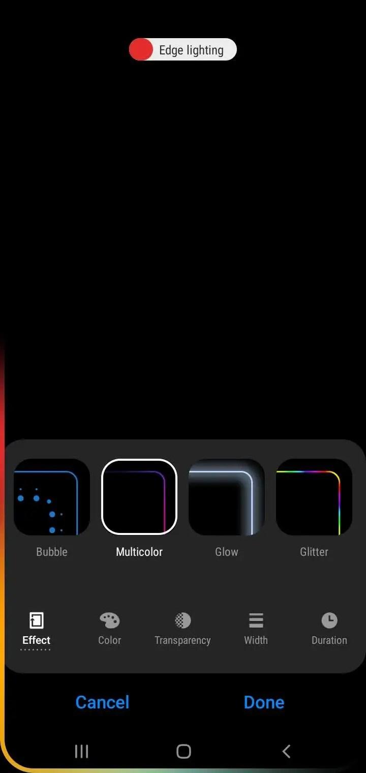 customize edge lighting on a galaxy s10