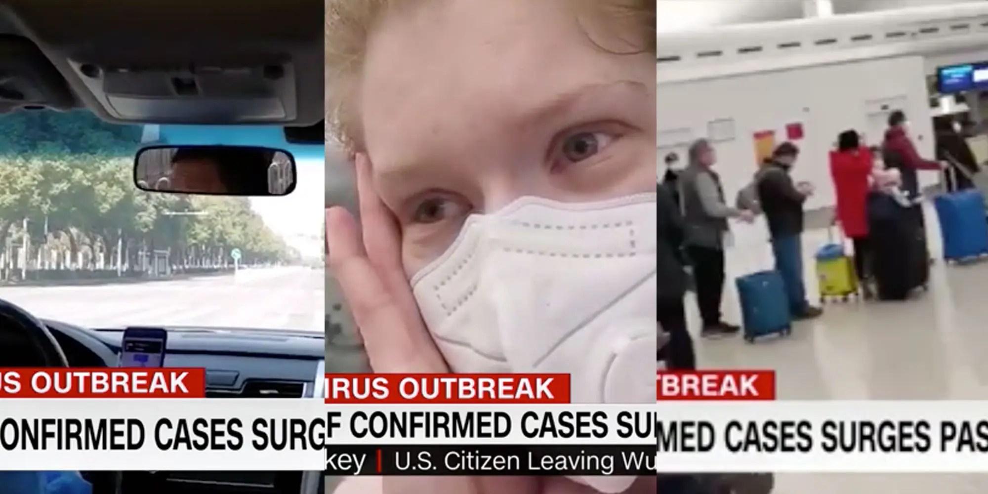 Wuhan coronavirus: American woman filmed evacuation journey ...