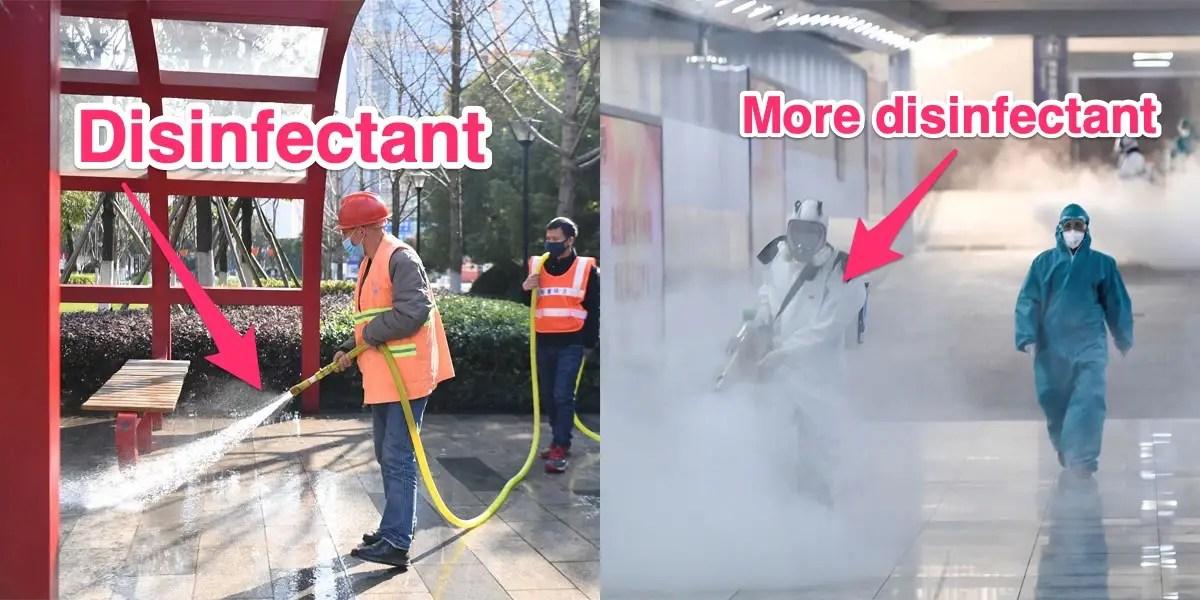 Wuhan coronavirus: China dispatches bleach trucks to spray down ...