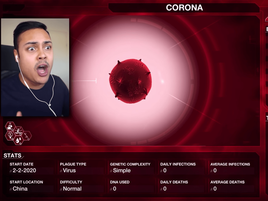 YouTubers are playing a game to try and predict coronavirus spread ...