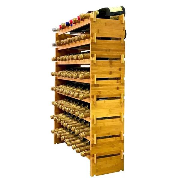 72 bottle modular wine rack