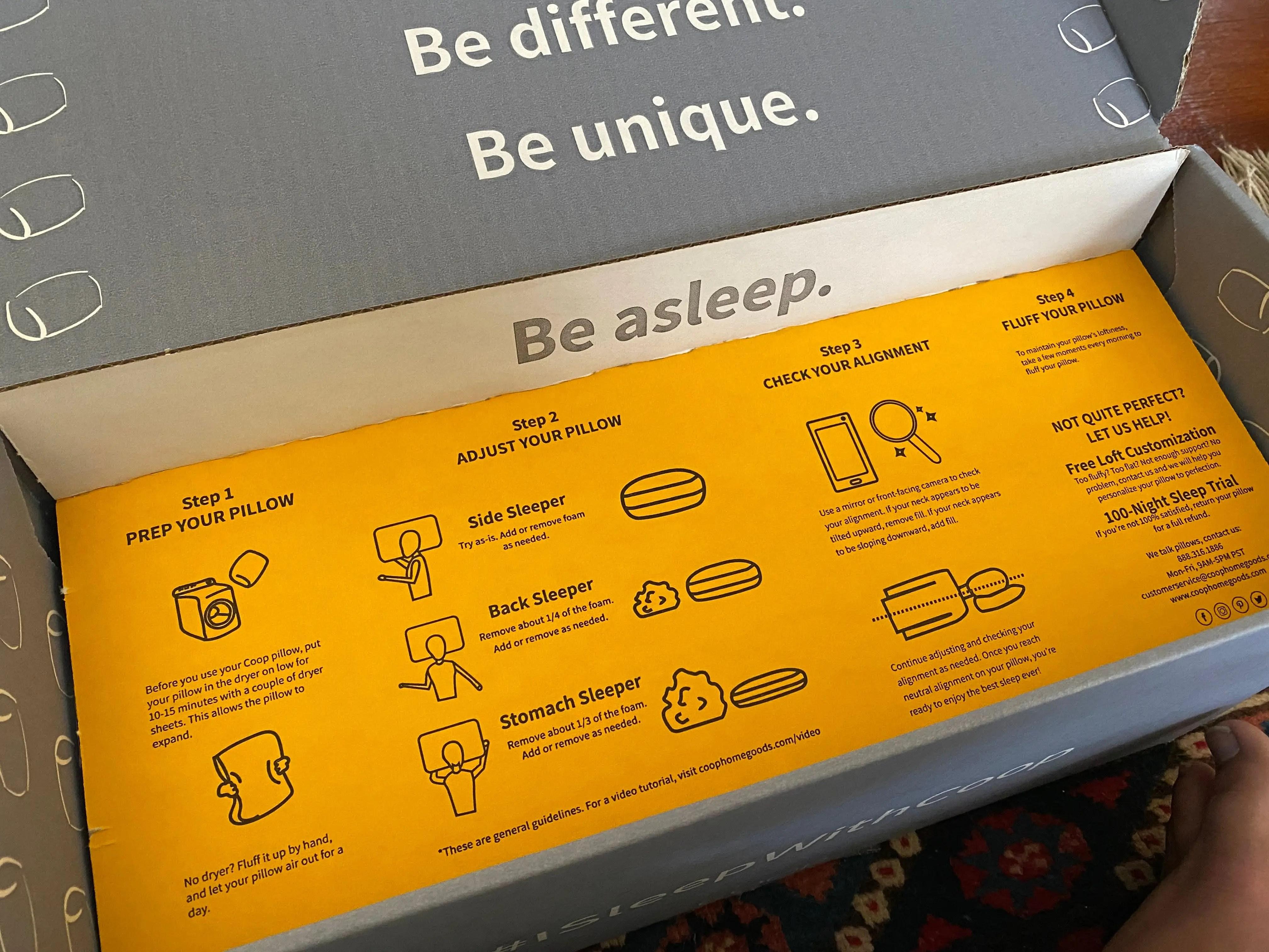 coop home goods original pillow review 2021