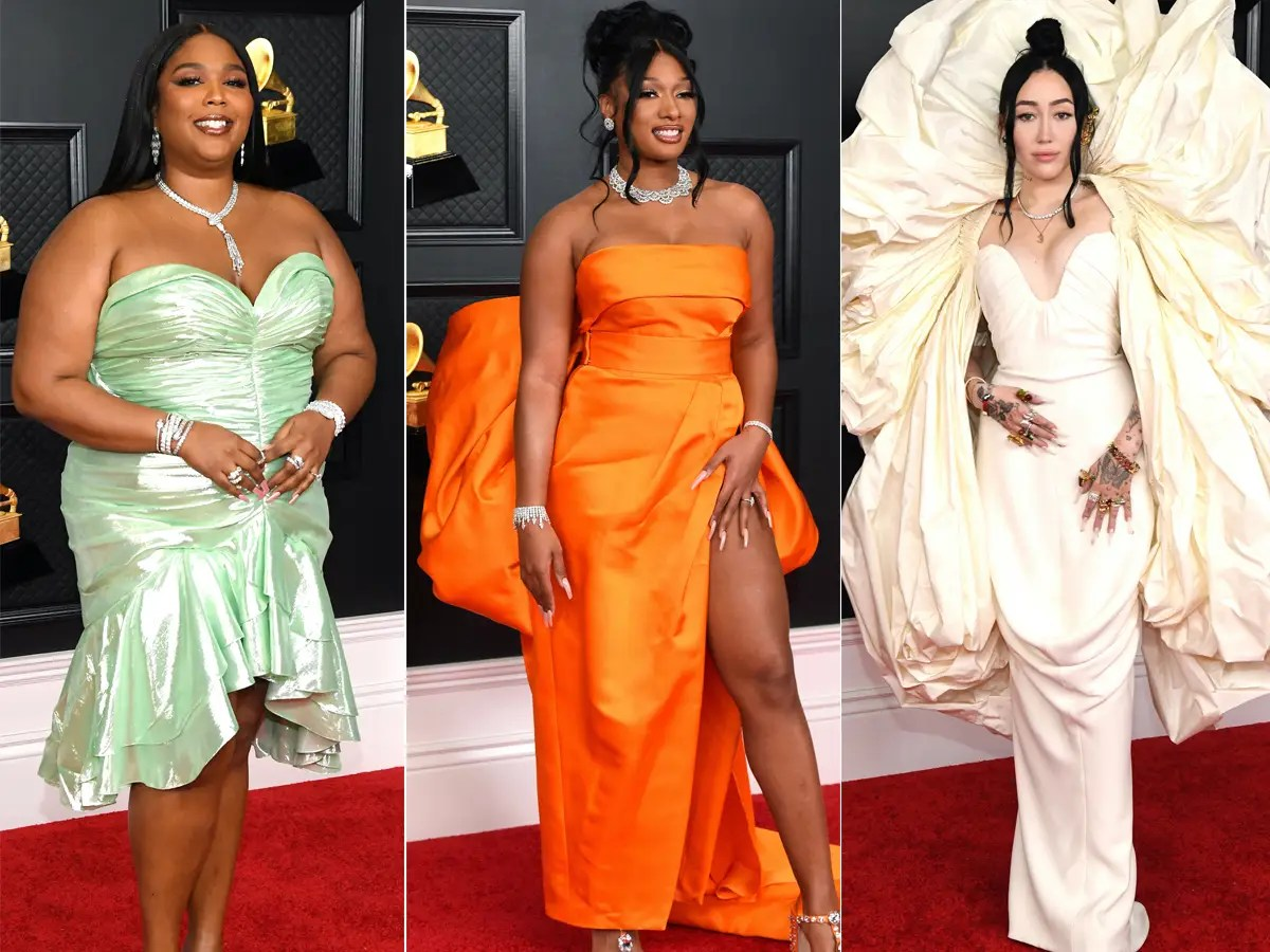https www insider com grammys celebrities outfits red carpet looks 2021 3