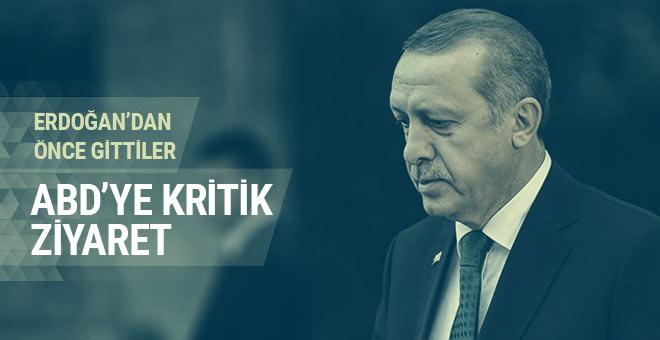 Erdoğan'dan önce gittiler ABD'ye kritik ziyaret