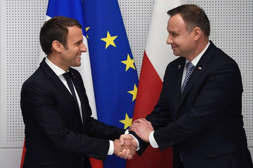 Andrzej Duda i Emmanuel Macron /ERIC FEFERBERG /East News