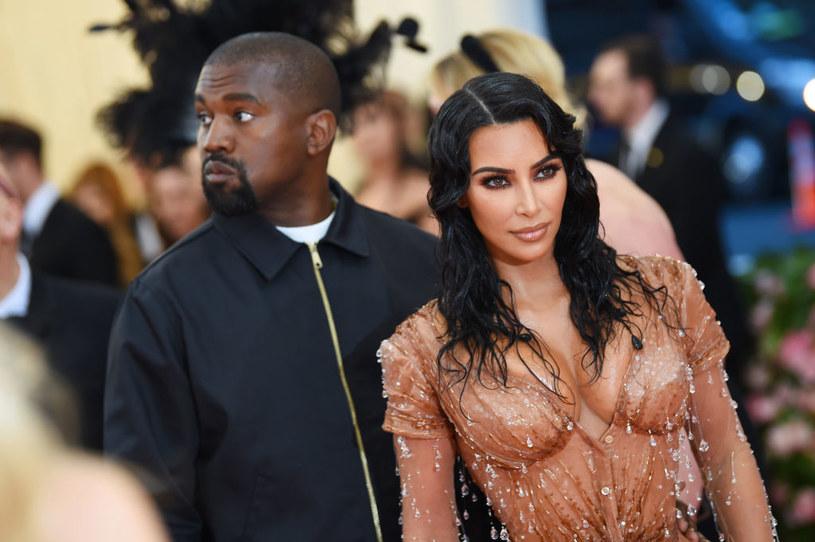 Kanye West and Kim Kardashian / Dimitrios Kambouris / Getty Images