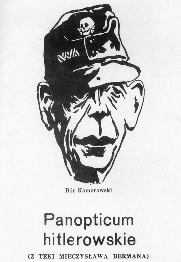 Komunistyczna karykatura generała Tadeusza Bora-Komorowskiego /domena publiczna