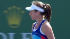 Konta wyeliminowała Parmentier w Indian Wells. Wideo