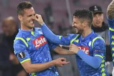 LE. SSC Napoli - Red Bull Salzburg 3-0 w meczu 1/8 finału. Gol Milika