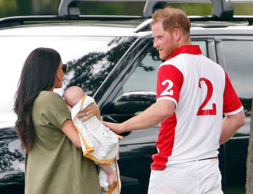 Meghan and Harry with Archie, 2019 / Max Mumbly / Getty Images