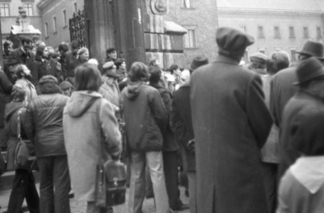 Msza święta na Wawelu 11.11.1978 roku /Romana Kahl-Stachniewicz /archiwum prywatne