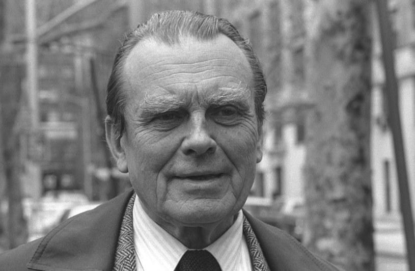Nowy Jork, 1983 r. Czesław Miłosz /Czeslaw Czaplinski/FOTONOVA /East News