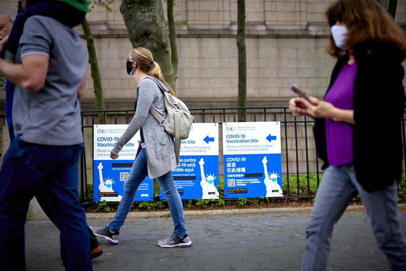 Nowy Jork w czasie pandemii COVID-19 /Gabby Jones/Bloomberg via Getty Images /Getty Images