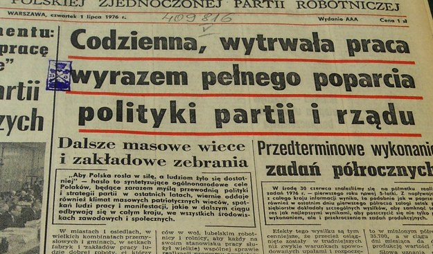 Numer Trybuny z 1 lipca 1976 roku /reprodukcja /INTERIA.PL