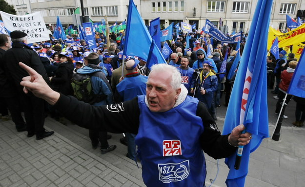 Uczestnicy manifestacji /Paweł Supernak /PAP