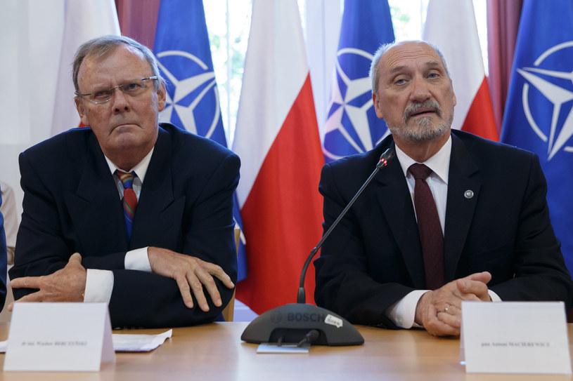 Wacław Berczyński i Antoni Macierewicz /Krystian Maj /Agencja FORUM