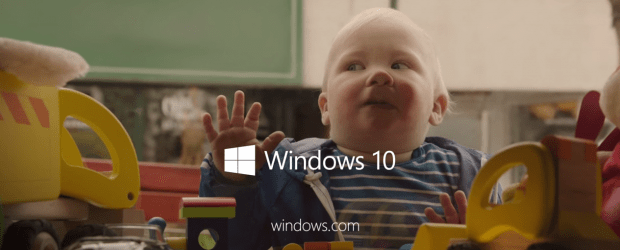 windows 10 baby commercial