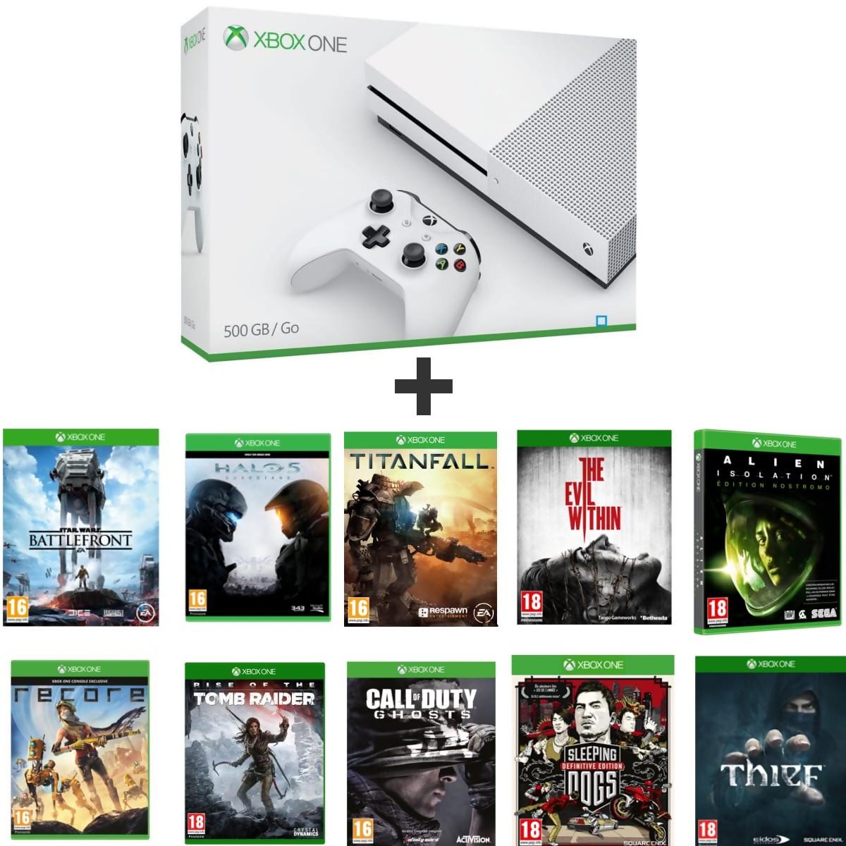 Xbox One S La Console Vendue Avec 10 Jeux Un Prix De