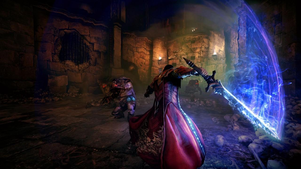 Dracula lance une attaque à l'épée dans le jeu vidéo Castlevania Lords of Shadow 2