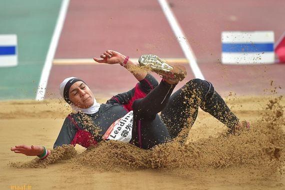 iranian female athlete wins