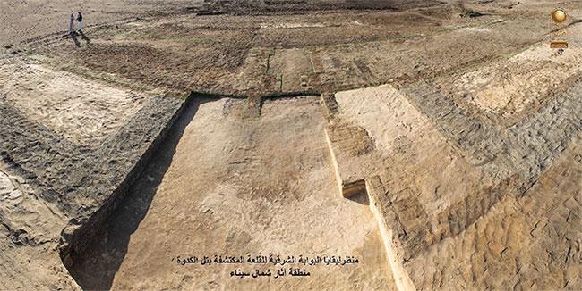 Khu vực các nhà khảo cổ phát hiện tàn tích của thành trì cổ đại tại Ai Cập.