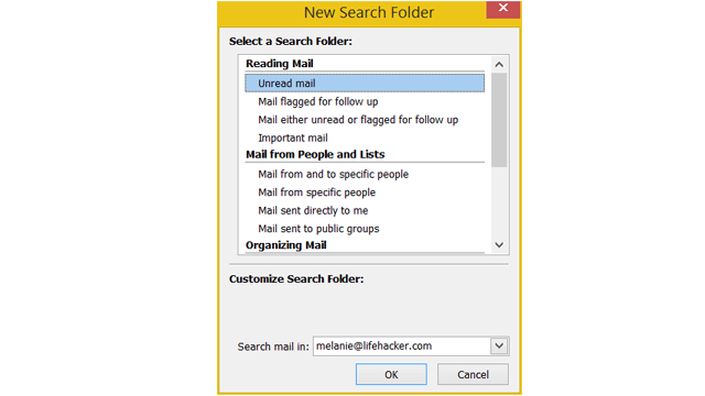 create search folder