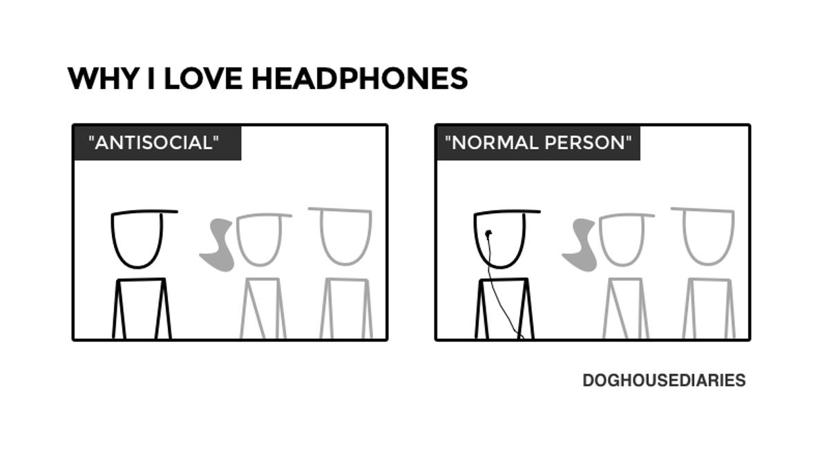 Headphones Are a Social Panacea
